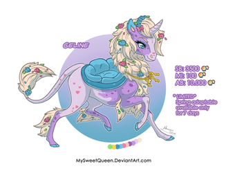 [OPEN AUCTION] Celine the Spring Unicorn by Almairis