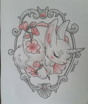 Bunnycorn Tattoo Design