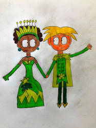 Ginn as Tiana and Naveen by DylanRosales