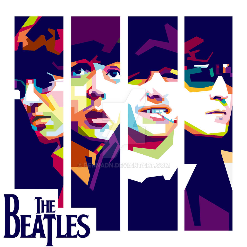 The Beatles WPAP By Bennadn On DeviantArt