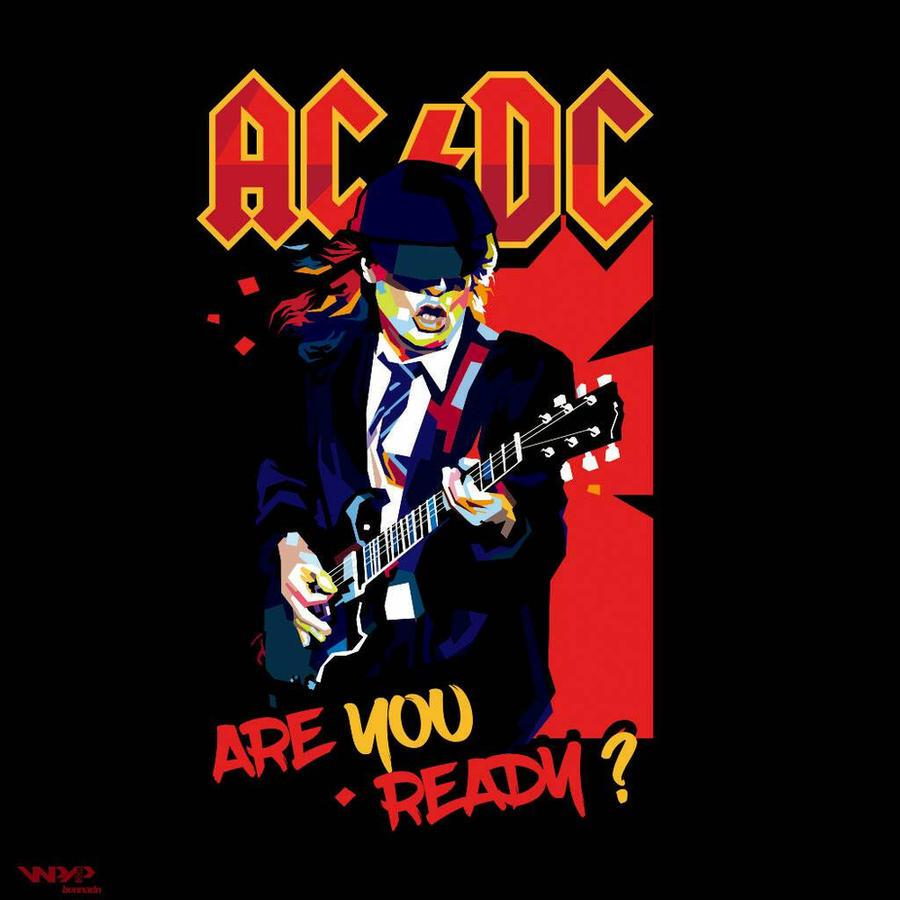Ac Dc Art : Angus young ac dc wpap by bennadn on deviantart
