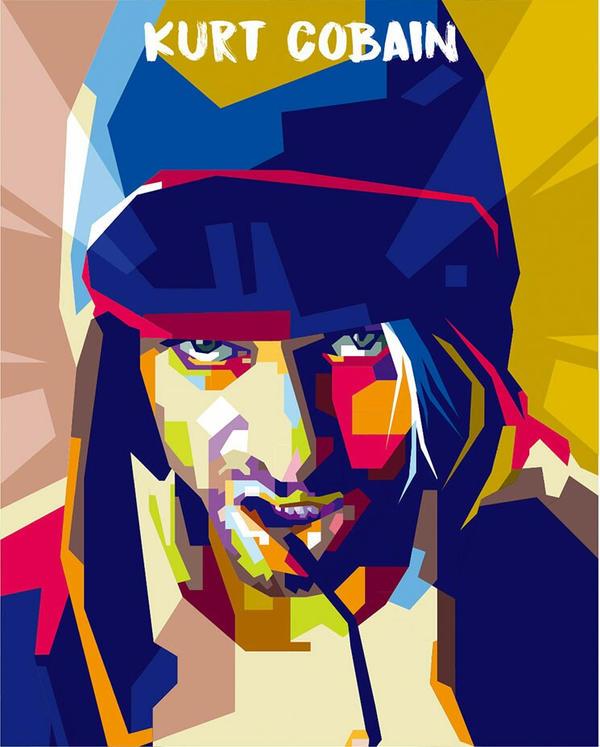 Kurt Cobain WPAP by bennadn
