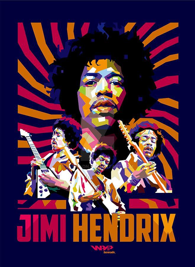 Jimi Hendrix WPAP by bennadn