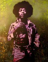 Jimi Hendrix by bobbyzeik