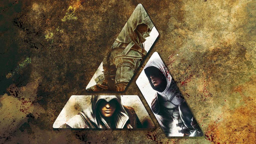 Assassins Creed Wallpaper 3: Altair, Ezio, Connor by saphira-wine