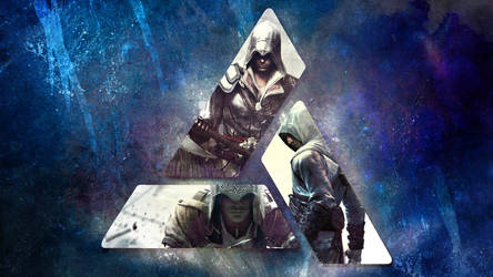 Assassins Creed Wallpaper 4: Altair, Ezio, Connor by saphira-wine