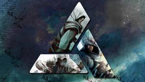 Assassins Creed Wallpaper 5: Altair, Ezio, Connor by saphira-wine