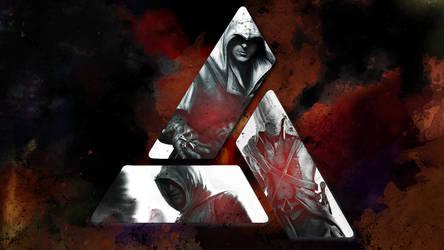 Assassins Creed Wallpaper 6: Altair, Ezio, Connor by saphira-wine