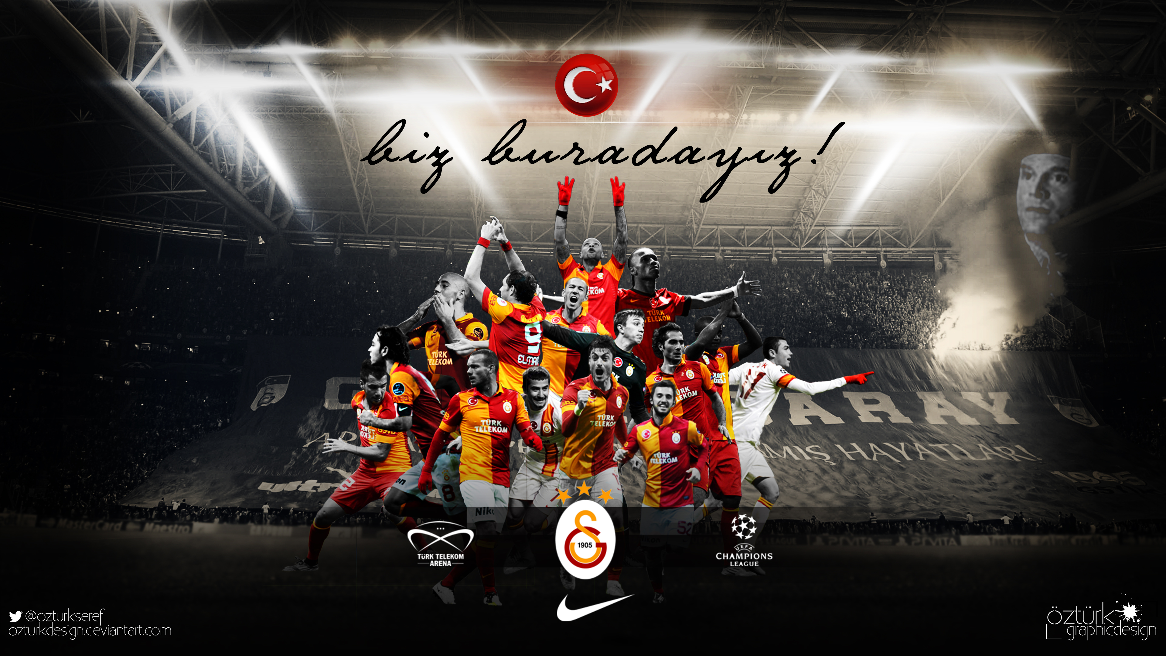 Galatasaray - We are here ! by ozturkdesign on DeviantArt