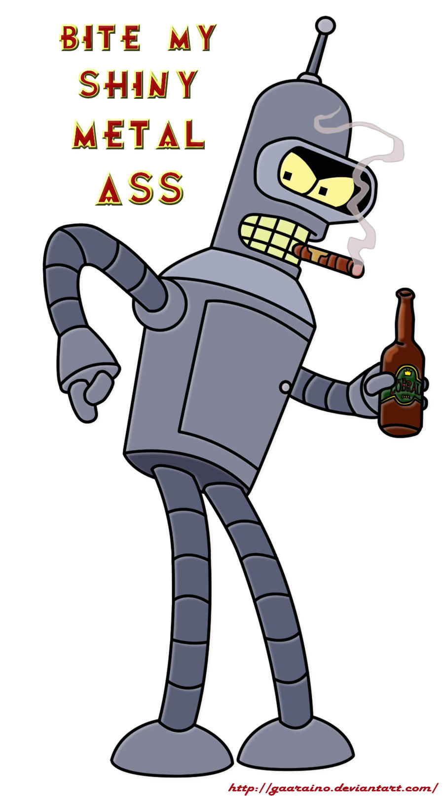 Futurama bite my shiny metal ass
