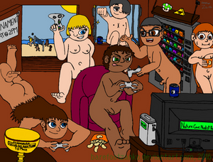 Tournament Day at the Nudist Resort by barefootZanko