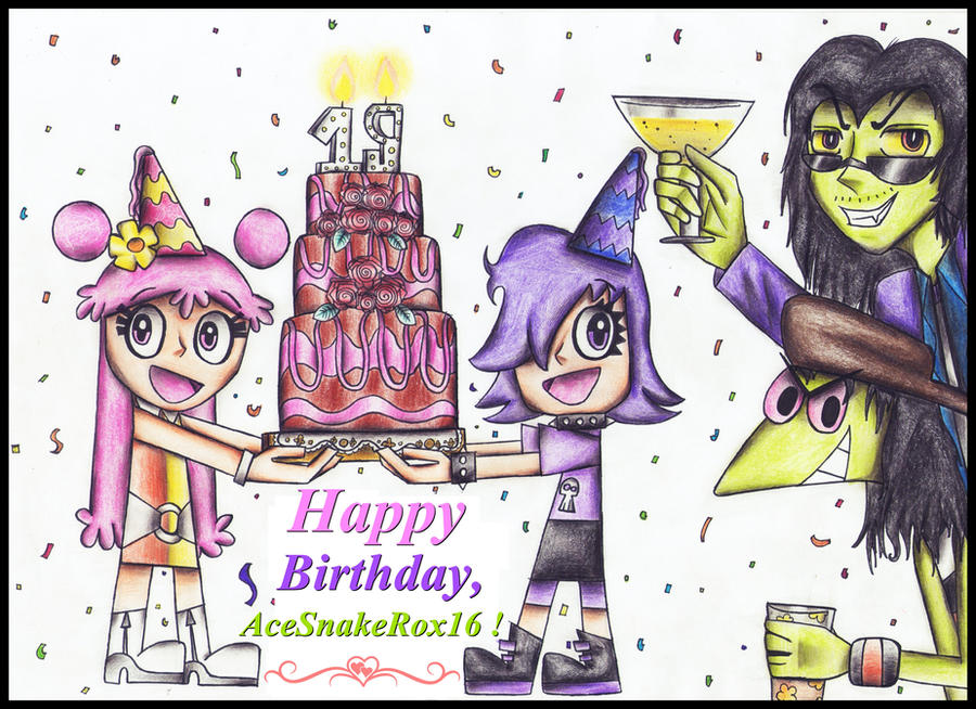 Happy Birthday, AceSnakeRox16 ! by MrsxSnake