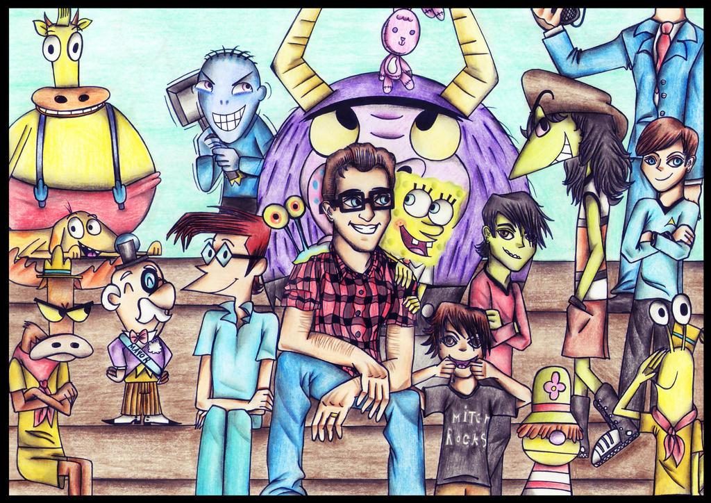 Tom Kenny and his BFFs ! by MrsxSnake on DeviantArt