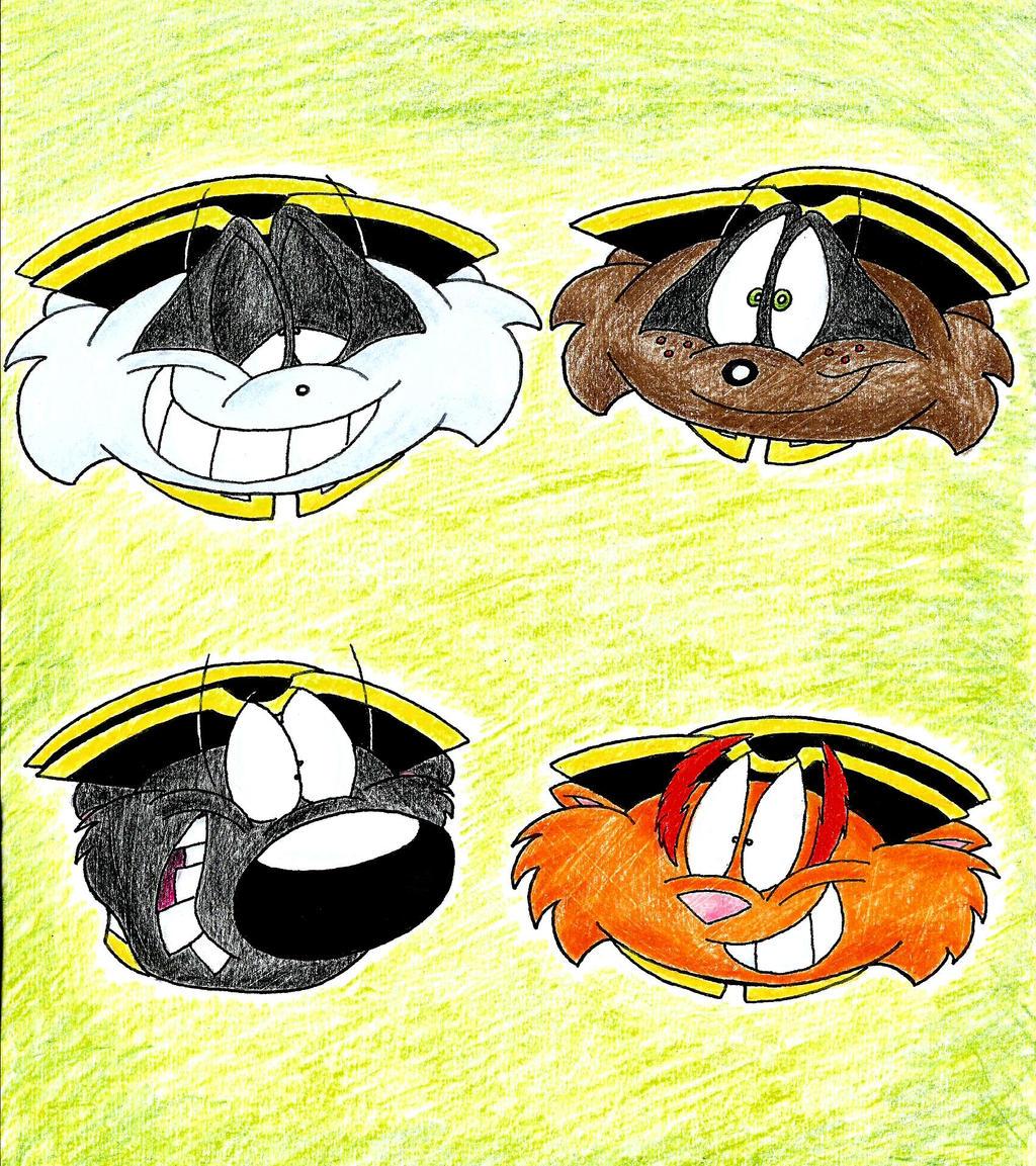 Arthur Character Heads by IrishBecky