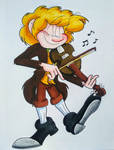 Playing A Pleasant Reel by IrishBecky
