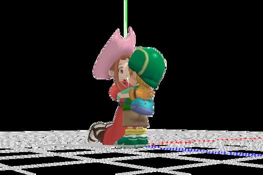 Mimi hugs T.K