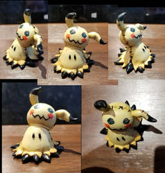 polymer clay Mimikyu by Helix-Wing
