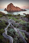 Moonset - Sugarloaf Rock