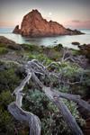 Moonset - Sugarloaf Rock