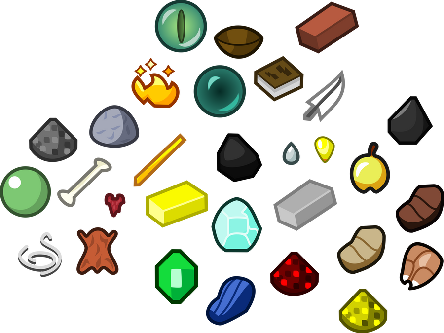 MC Items expanded by JLuigiJohn on DeviantArt
