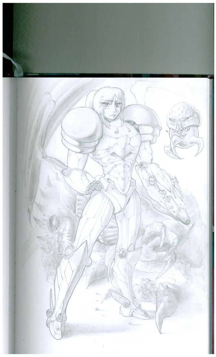 Samus (with blushies) by Nicrat