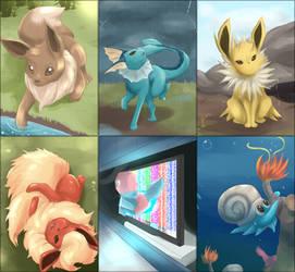 chibikurai Daily Pokemon Sketch day133-138