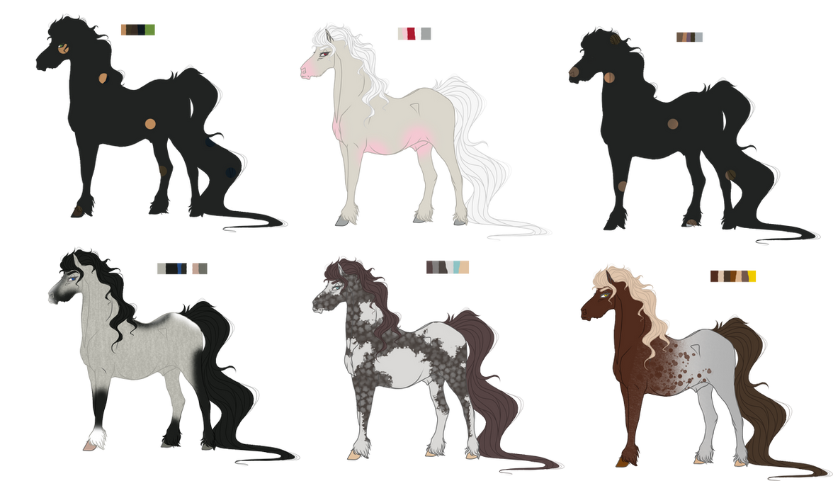 Mystery Stallion Adopts (2/6 Open) REDUCED PRICE by Rhixas