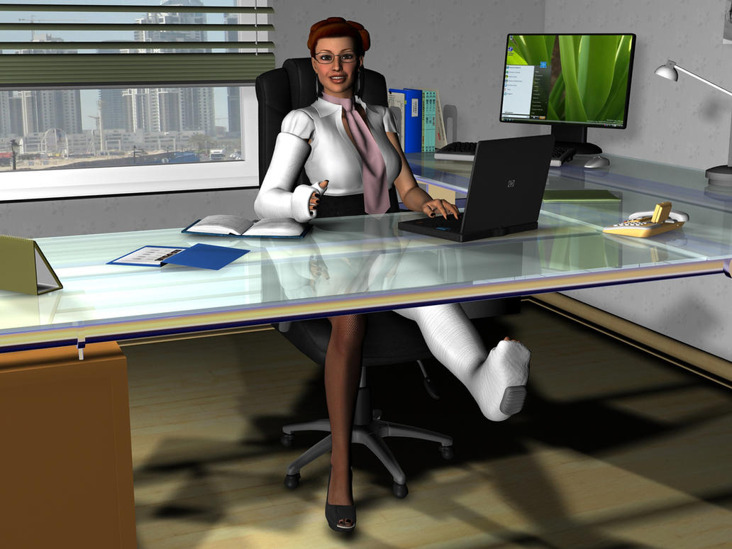 Desk job by rizzo cast on DeviantArt