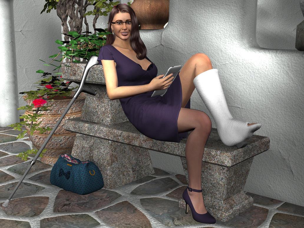 Hot girl slc crutching 3
