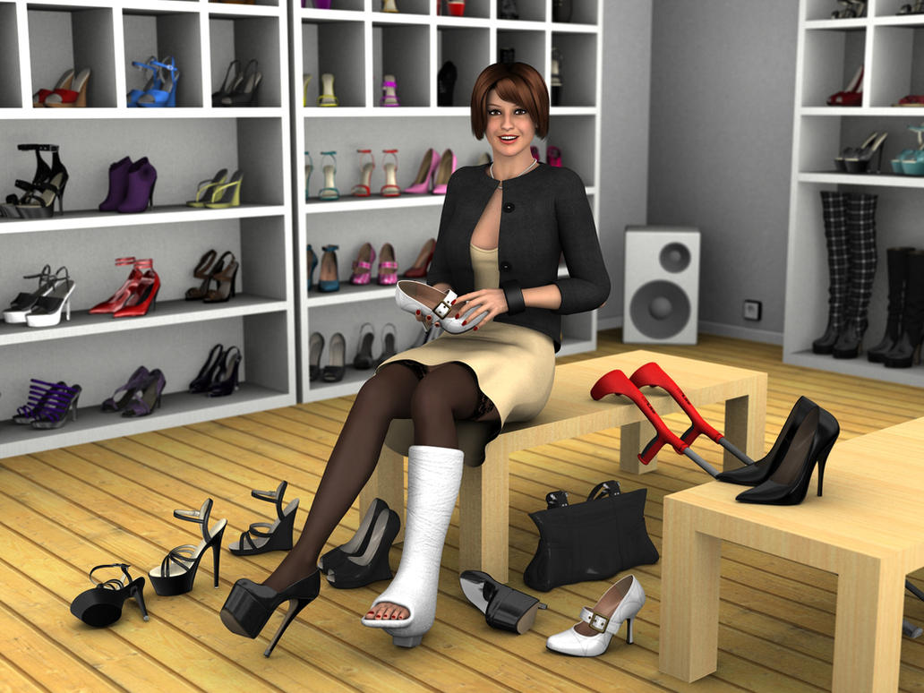 shopping for new shoes by rizzo cast on deviantart