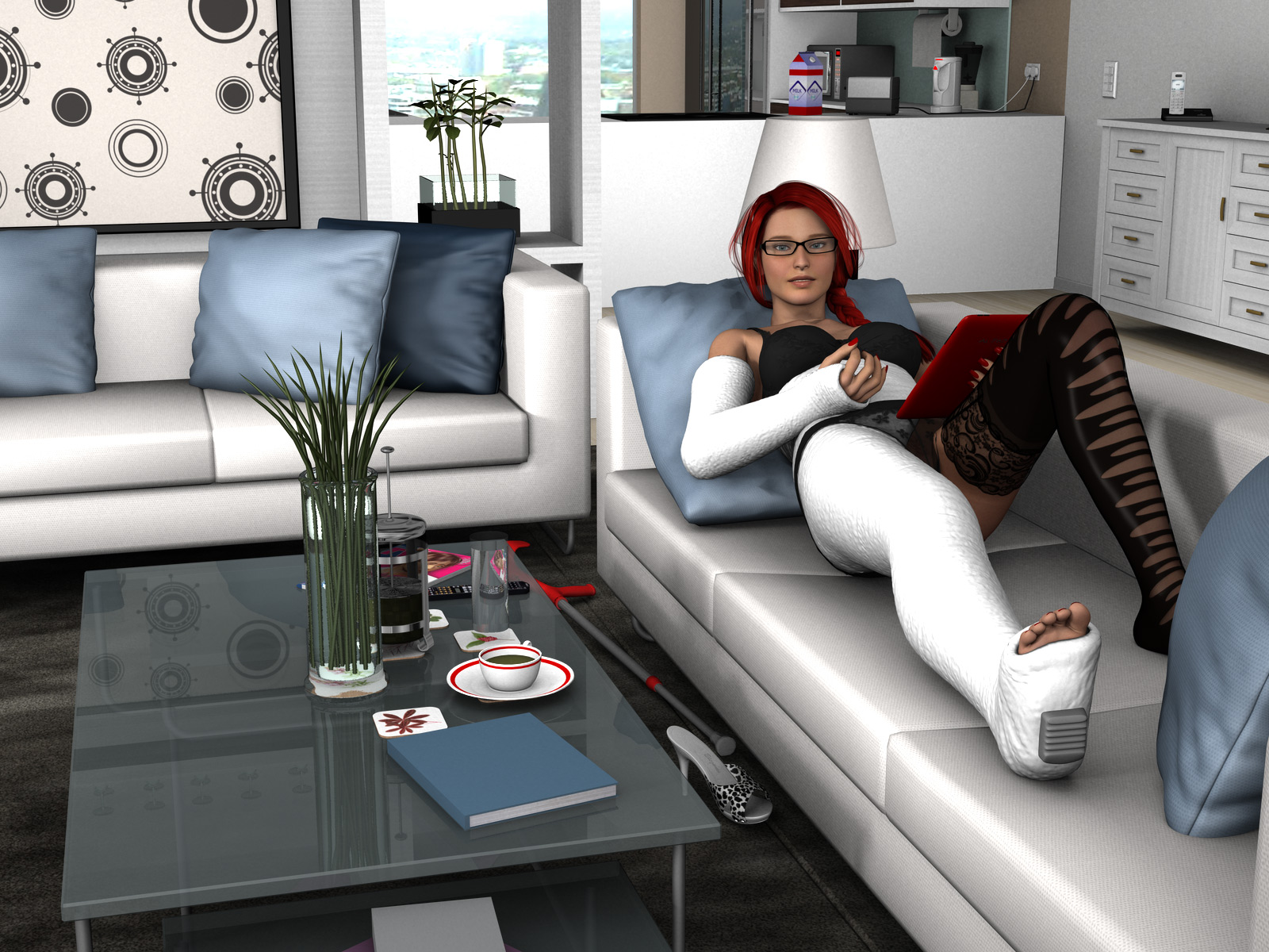 Lying On The Couch By Rizzo Cast On Deviantart