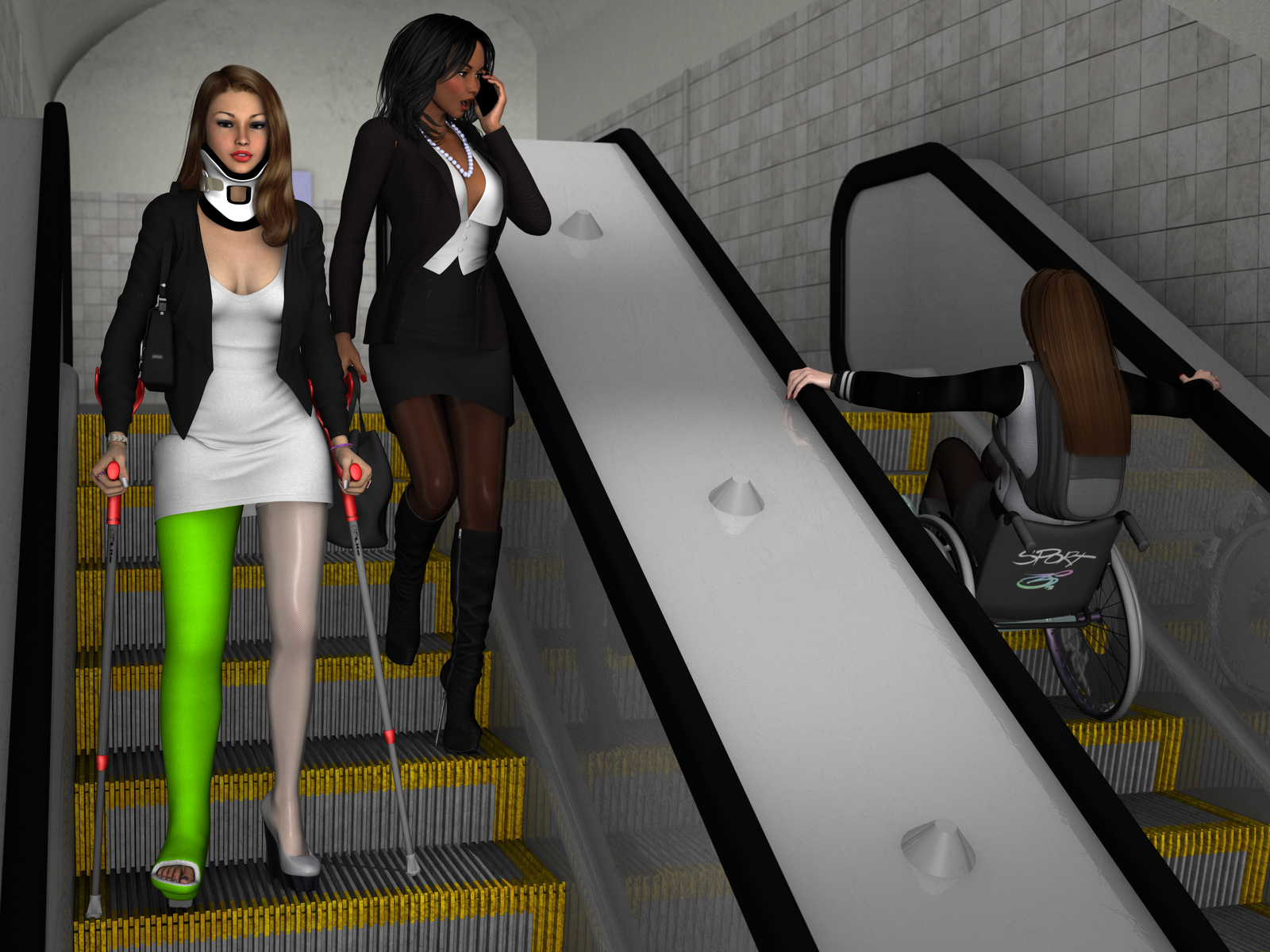 Escalator ride by rizzo-cast on DeviantArt