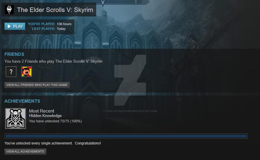 The Elders Scrolls V: Skyrim 100% Achievements by TheLastMohawk on