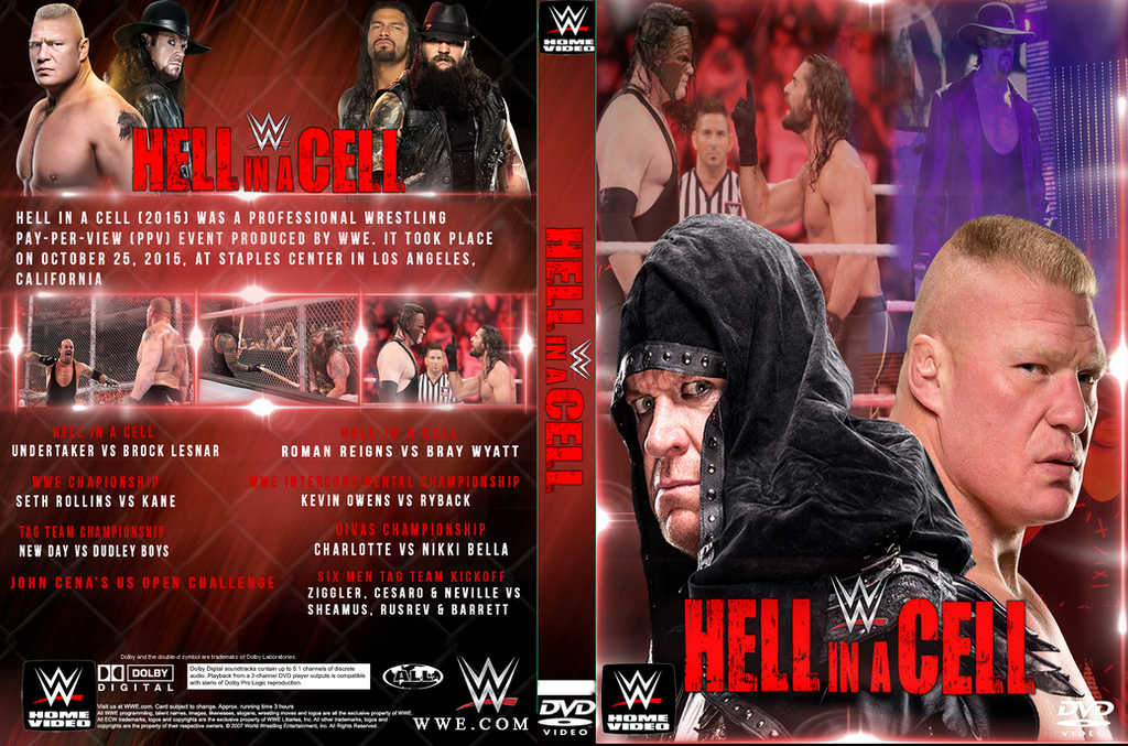 CUSTOM WWE HELL IN A CELL 2015 DVD COVER by ShahzamanAbbasi