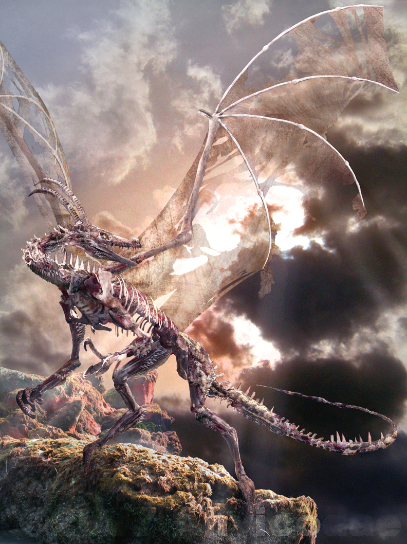 Dragon summoned from Hell