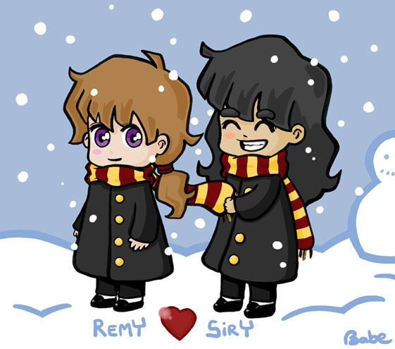 http://fc02.deviantart.net/fs11/i/2006/254/3/5/Sirius_and_Remus_in_the_snow_by_wonderbabe.jpg
