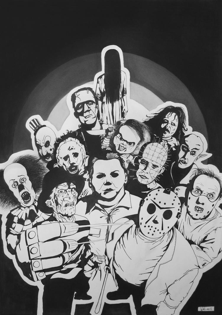 A collection of classic horror movie characters. by ...