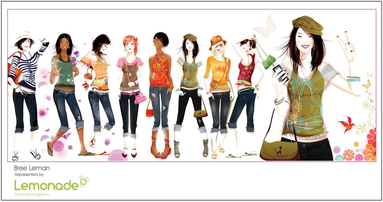 Teen Fashion Illustration By Breeleman On Deviantart