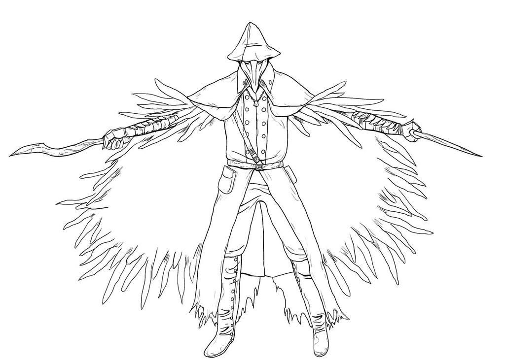When Scanning Line Art You Should : Bloodborne character by gudgurkan on deviantart