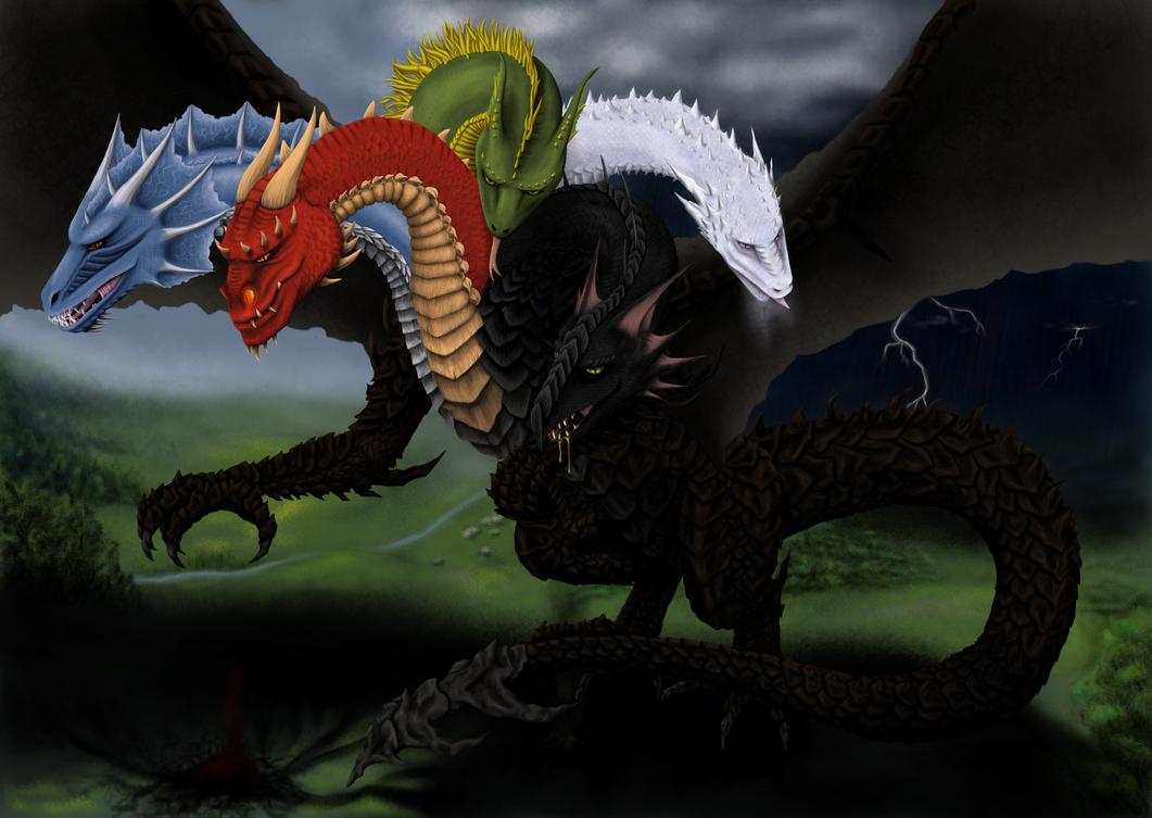 Takhisis - bringing darkness to the world by Kalia24