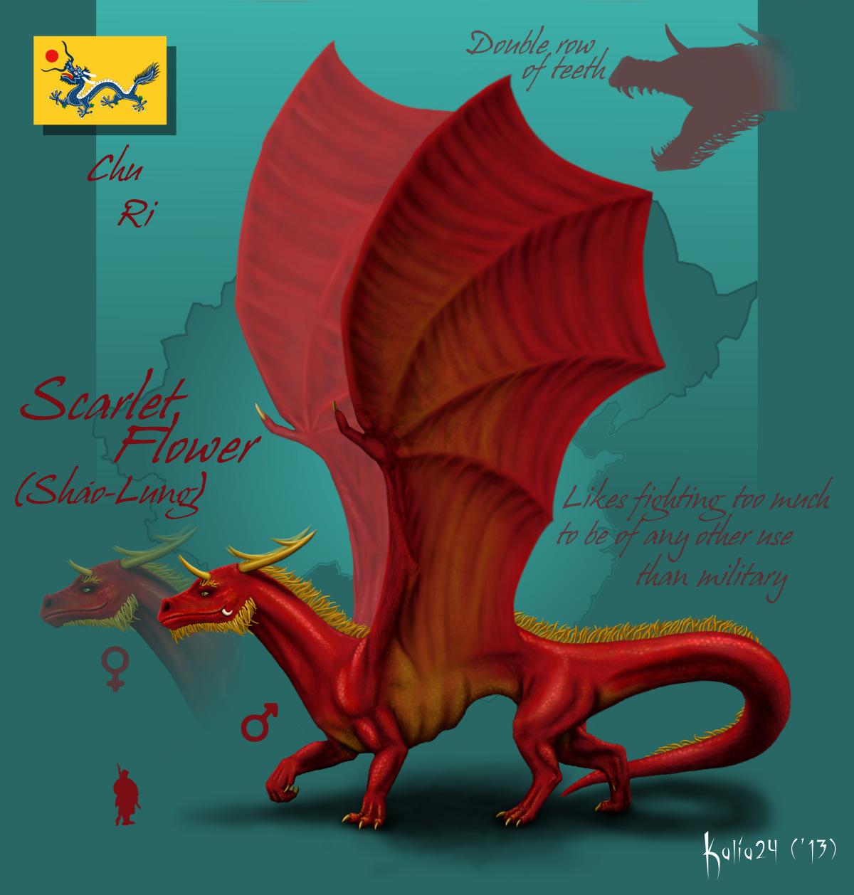 Scarlet Flower by Kalia24
