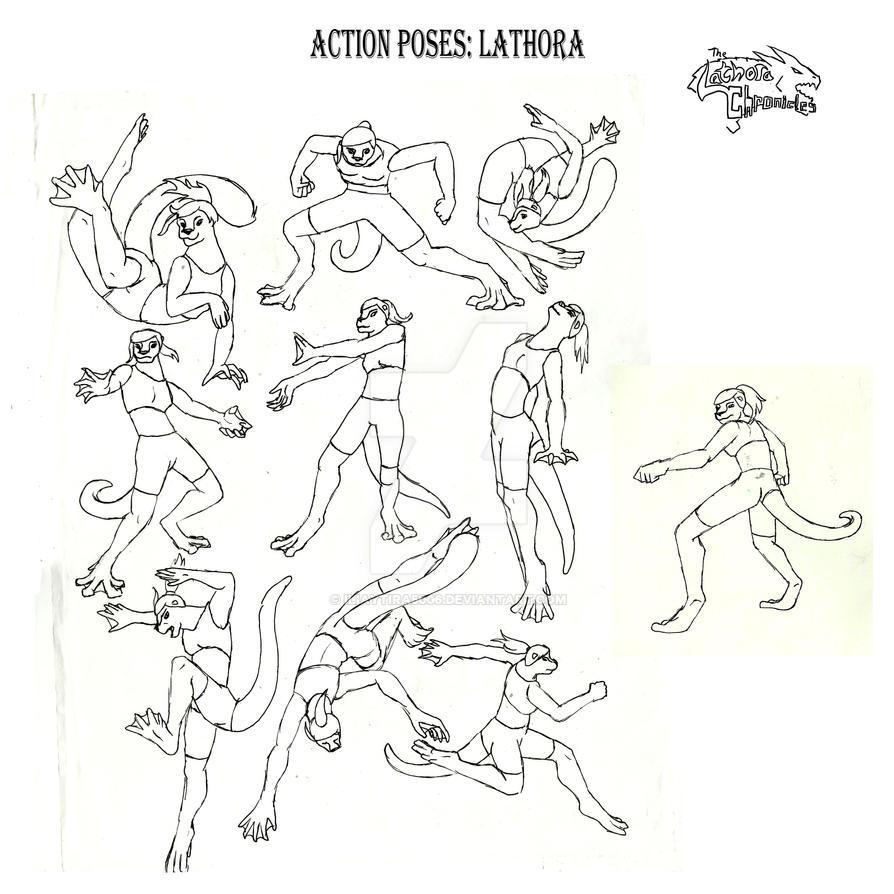 Lathora action pose reference by iliaytira5006