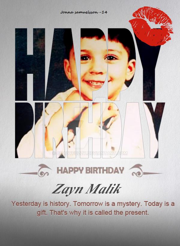 Zayn Malik Birthday Card by CrazyFuzzy on DeviantArt – Zayn Malik Birthday Card
