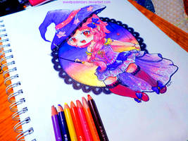 Candy Corn Witch by CutePastelStars