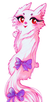 Pastel Cat With Lavender Bows Sticker by CutePastelStars