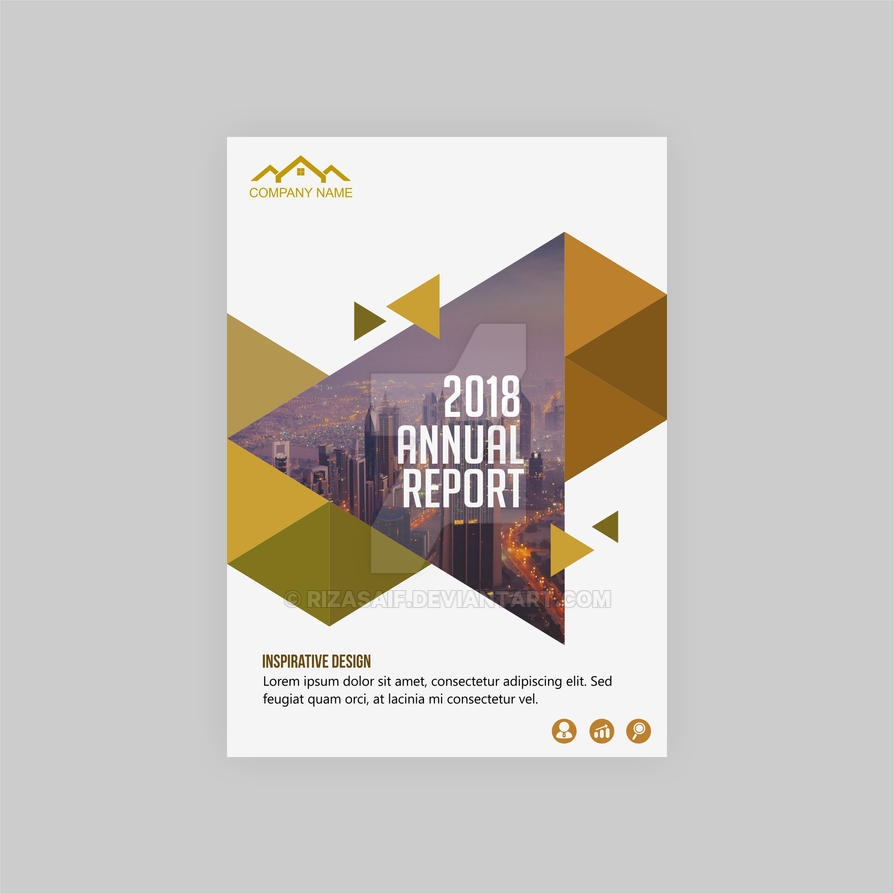 modern annual report cover design by rizasaif