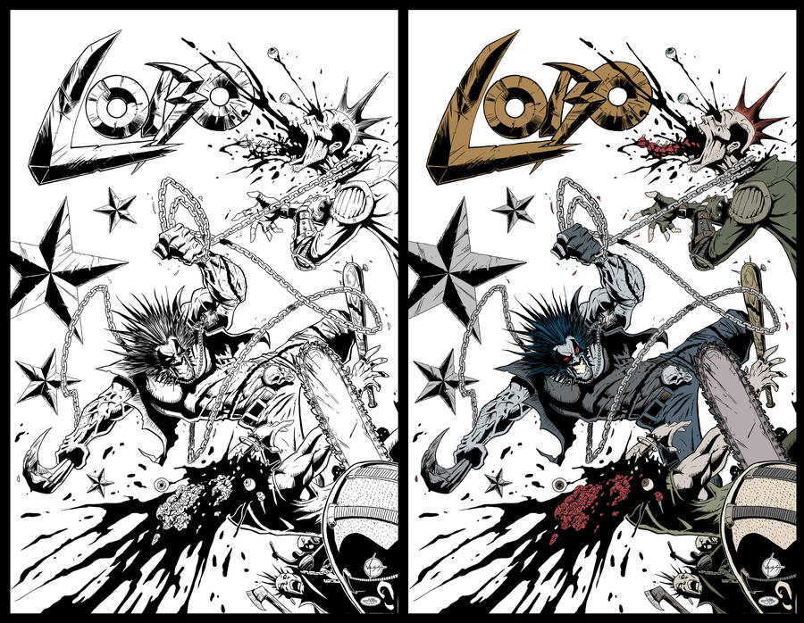 LOBO cover Ink and Flat by jotazombie