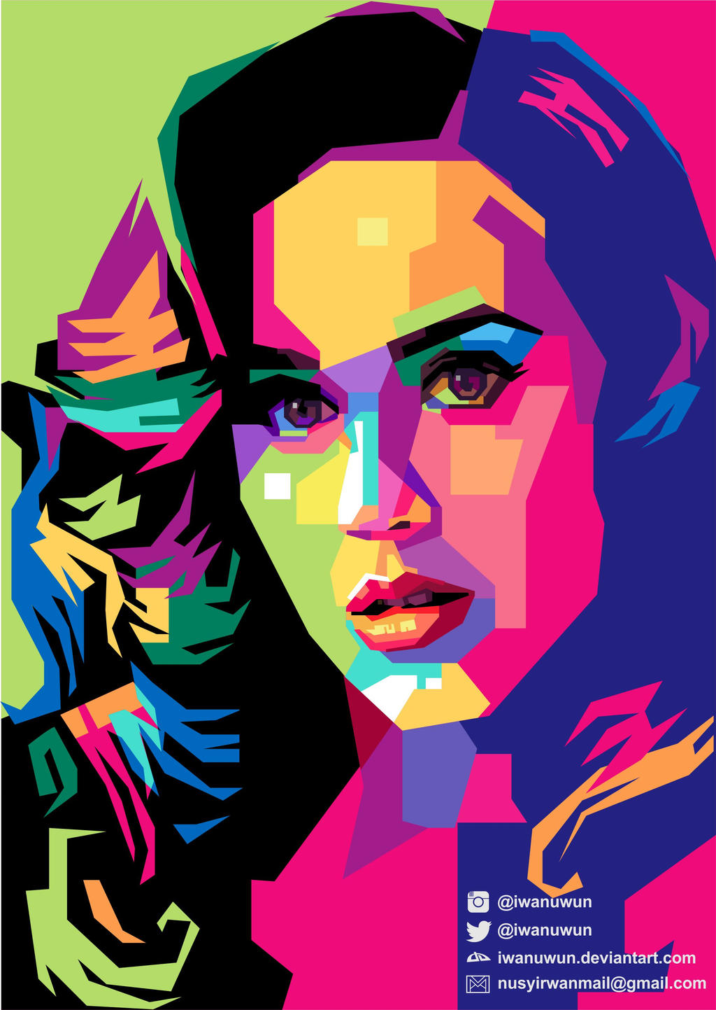 Katy Perry on WPAP by iwanuwun on DeviantArt