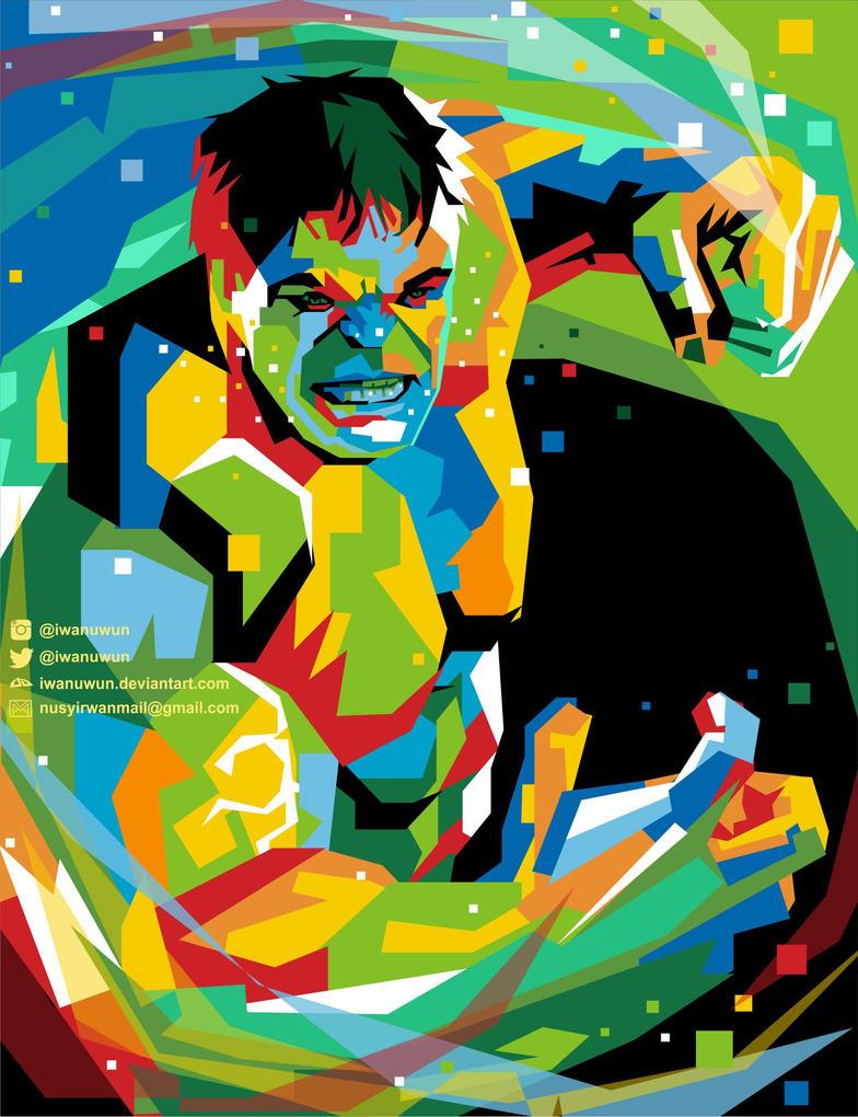 Hulk on WPAP (Wedha's Pop Art Portrait) by iwanuwun