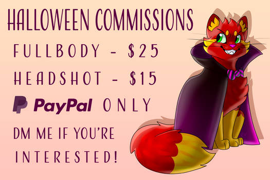 Halloween Commissions! OPEN